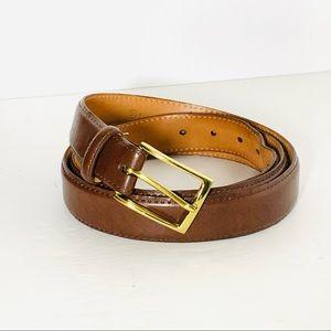 Martin Dingman Smooth Leather Belt Size 44 Brn GC